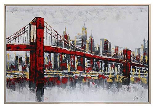 Cuadro al óleo Original - Puente de Brooklyn, Nueva York - 124 x 84 cm