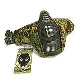 Tactical Airsoft CS Schutzkleidung Strike Stahl Halbmaske mit 2-Gürtel für Jagd Paintboll...