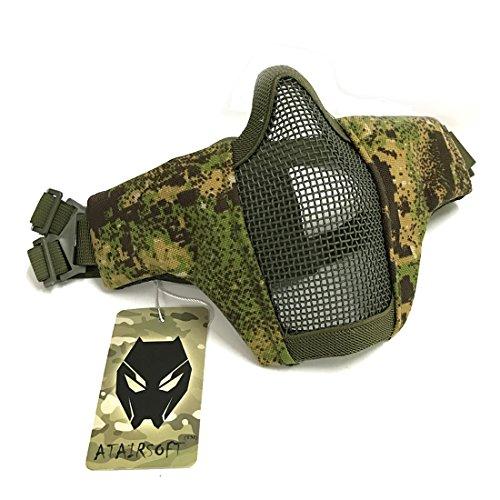Tactical Airsoft CS Schutzkleidung Strike Stahl Halbmaske mit 2-Gürtel für Jagd Paintboll WorldShopping4U (PG)