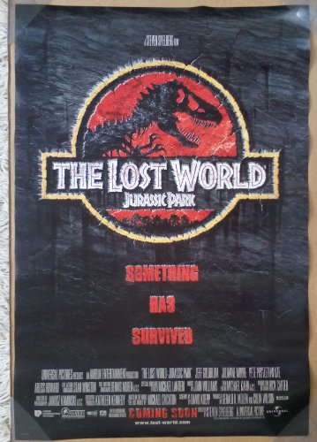 JURASSIC PARK THE LOST WORLD MOVIE POSTER 2 Sided ORIGINAL INTL 27x40 STEVEN SPIELBERG