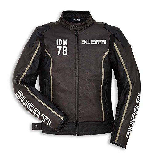 Ducati Oim C1 Chaqueta de Cuero para Hombre Marrón/Negro - 54