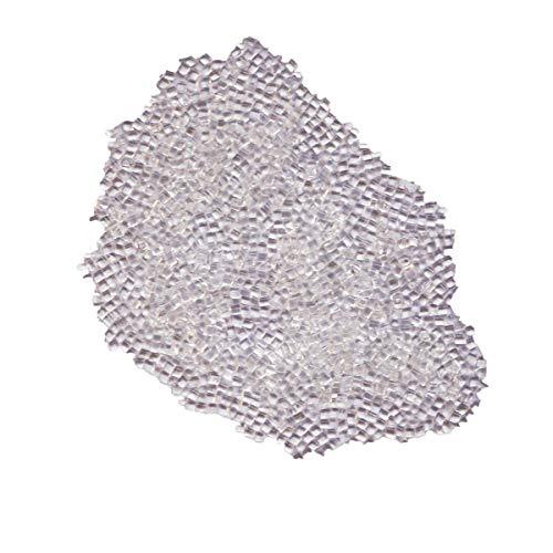Perline di colla italiane di alta qualità, 100 g, in granuli di cheratina, per extension, extension e capelli, colore: bianco trasparente