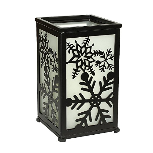 GiveU Decorative Led Candle Lantern with Timer Rustic Candle Lantern with Twelve Magnetic Seasonal Themed Panels ,5 x 5 x 8.5