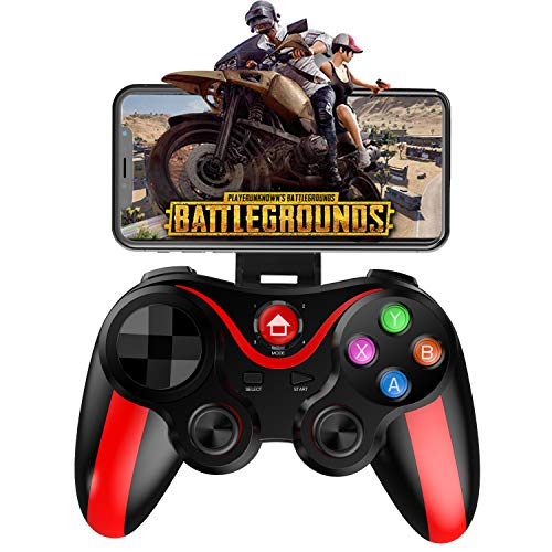 Megadream Wireless Gamepad für Android&iOS, Mobile Gamepad Controller für PUBG, FOTNITE und More Shooting Fighting Racing Game - Direktes Spielen