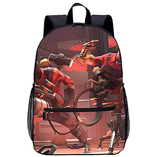 Mochila Infantil 3D mochila escolar Team Fortress Adecuado para: estudiantes de primaria y secundaria, la mejor opción para viajes al aire libre Tamaño: 45x30x15 cm / 17 pulgadas Mochilas Escolares