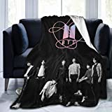 BTS Blanket Kpop Army Warm Hugs Super Soft Flannel Throws Blankets Suitble Couch Sofa Office LightweightPlush for Adults and Children to Use