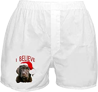 CafePress - Chocolate Lab Christmas Puppy - Novelty Boxer Shorts 6d96321f4