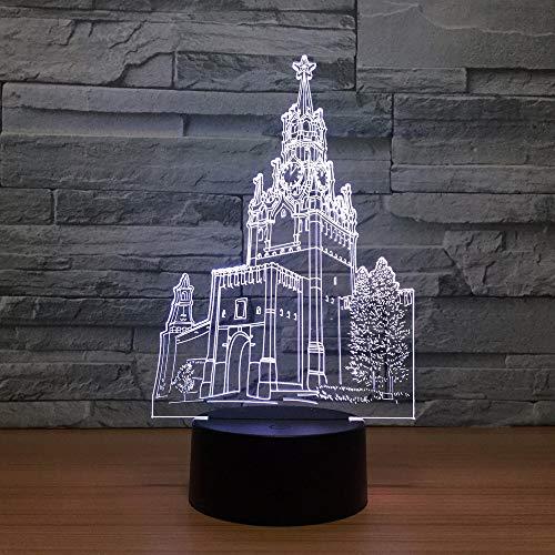 Clock Tower Magic Light Night Light, Adecuado para Mesa táctil para niños