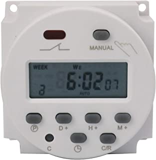 Nxtop DC 24V Digital LCD Power Programmable Timer Time Switch Relay 16A