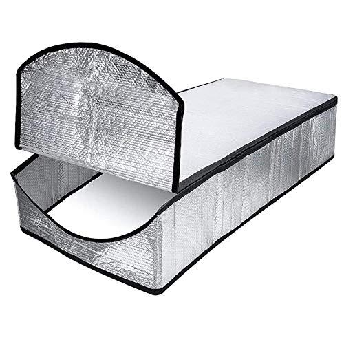 POHOVE Feuerfeste Dachboden-Treppen-Isolierung, doppellagige Luftblasen-Aluminiumfolie, Dachbodentreppen-Isolierung, Abdeckung, 63,5 x 137,2 x 27,9 cm