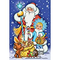 5Dフルドリルダイヤモンド絵画キット、DIYアートクラフトラウンドクリスタルラインストーン刺繍、ホームウォールの装飾大人のためのダイヤモンドクロスステッチ11.8 * 15.7inch santa-11.8*15.7in