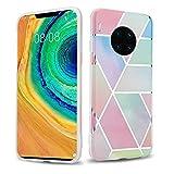 Cadorabo Funda para Huawei Mate 30 Pro en Mármol arcoíris no.11 - Cubierta Proteccíon de Silicona TPU en Motivo Mosaico - Gel Case Cover Carcasa Ligera