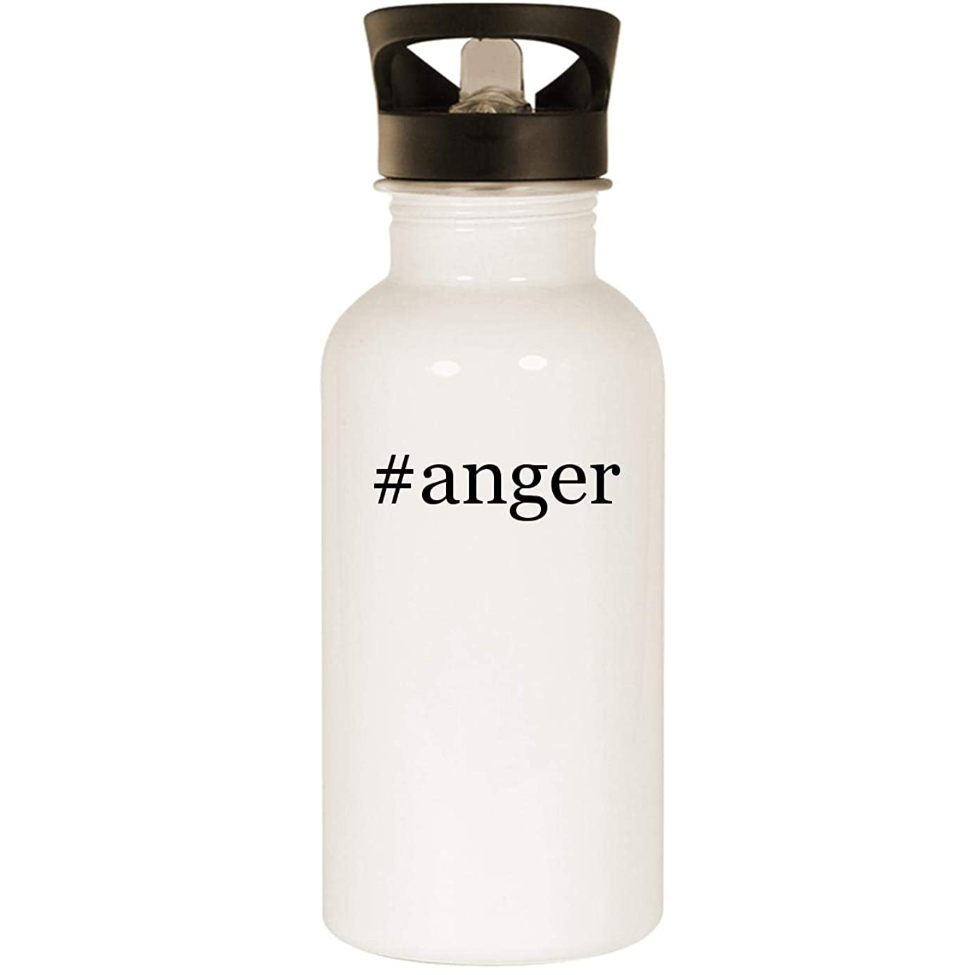 #anger - Stainless Steel Hashtag 20oz Road Ready Water Bottle, White