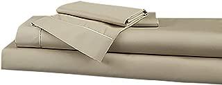 DreamFit 4-Degree 400 Thread Count Preferred 100-Percent Egyptian Cotton Sheet Set, King, Truffle