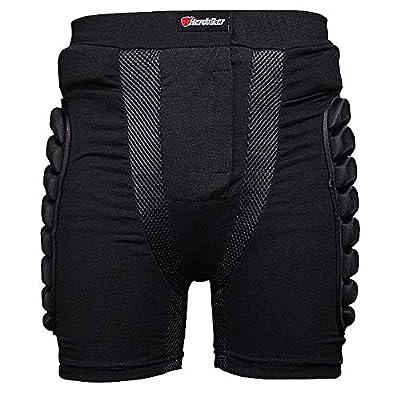 TTBF Hip Protection Gear 3D Gepolsterte Shorts Hip Eva Kurze Schutzausrüstung Atmungsaktiv für Skifahren Skaten Snowboard Outdoor Radfahren Kinder Frauen Männer,XS