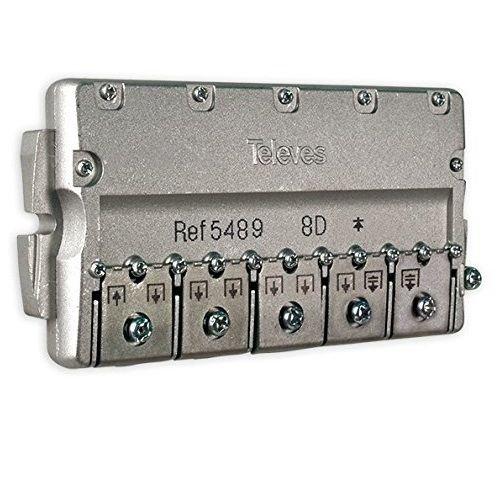 Repartidor Distribuidor 8 direcciones 14/16 dB, Cablepelado