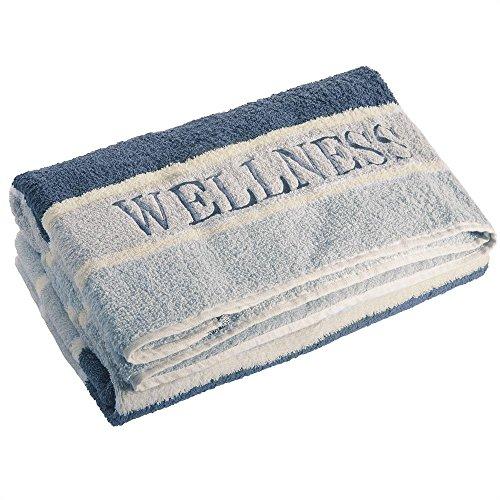 aqua-textil Wellness Saunatuch 80 x 200 cm Streifen grau Baumwolle Frottee Sauna Handtuch Strandtuch