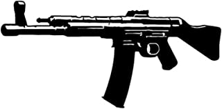 ALFASHIRT STG 44 Storm Rifle Machine Carabiner MP44 Weapon Gun Car (Black 15x7cm) - Sticker Wall Decoration