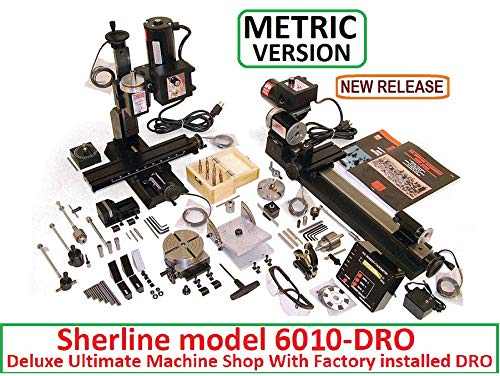 Find Bargain Sherline 6010-DRO Metric Version Ultimate Machine Shop with Factory Installed DRO (CNC ...