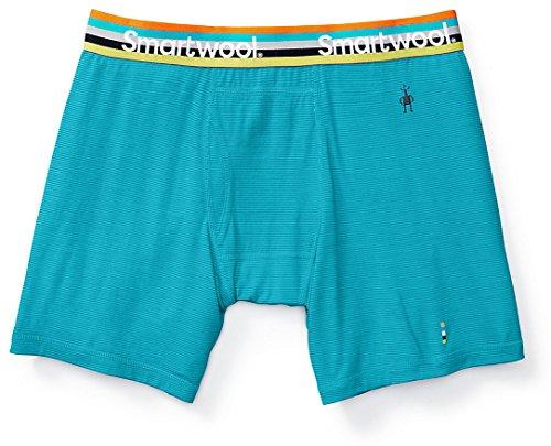 Smartwool Men's Base Layer Bottom - Merino 150 Wool Pattern Active Boxer Briefs Sea Blue- Past Season XX-Large