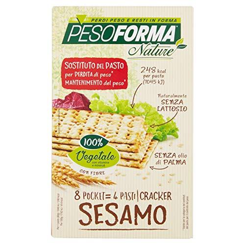 Pesoforma Nature Cracker Sesamo - Pasto sostitutivo Senza Lattosio SOLO 248 Kcal - Crackers dimagranti - 4 pasti