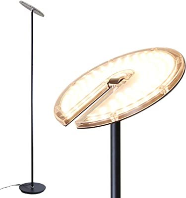 Brightech Sky Led Torchiere Floor Lamp Energy Saving Dimmable Adjustable Lamp Reading Lamp