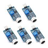 Oiyagai 5pcs High Sensitivity Sound Microphone Sensor Detection Module for Arduino AVR PIC