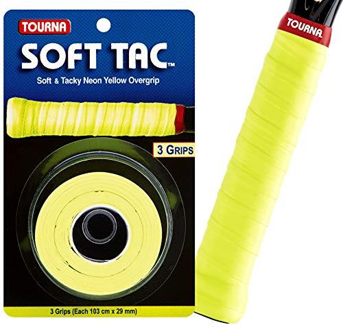 Tourna - Taco Suave para overgrip, Color Amarillo neón