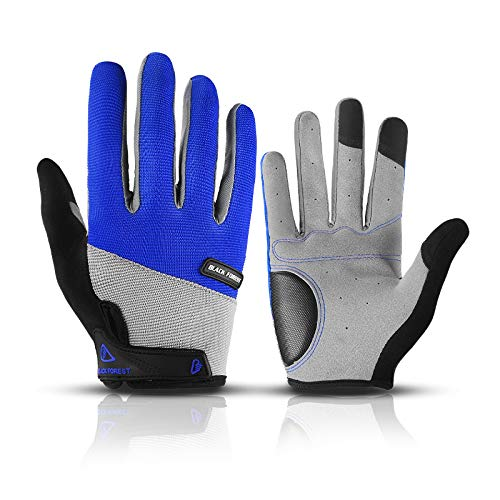 Guantes de Pantalla táctil Antideslizantes Deportivos para Hombres y Mujeres, para Montar en Bicicleta, con Dedos completos, azul-XL-B503