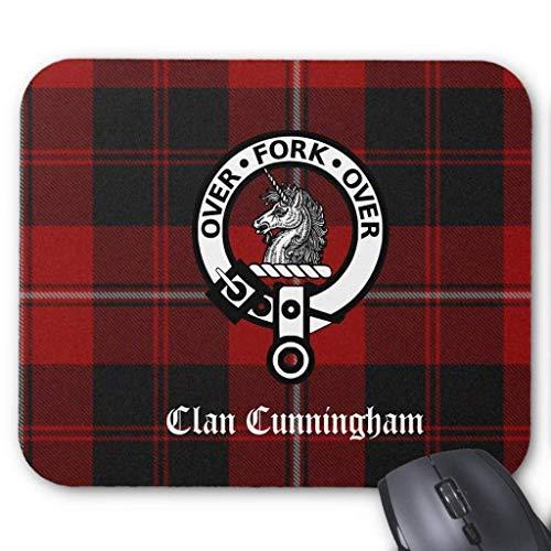 BAOQIN Mouse Pad,Clan Cunningham Badge & Tartan Mouse Pad 18 * 22 cm
