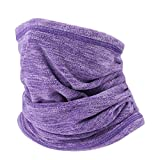 WTACTFUL Soft Fleece Neck Gaiter Neck Warmer Face Mask Balaclava Cover for Cold Weather Windproof Gear Winter Outdoor Sports Snowboard Skiing Cycling Motorcycle Hunting Fishing Men Women Purple