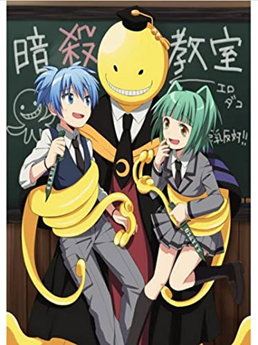 Póster De Lienzo Anime Assassination Classroom Poster Art Painting Wall Sticker para Coffee House Bar 50X70Cm Sin Marco Impermeable Duradero
