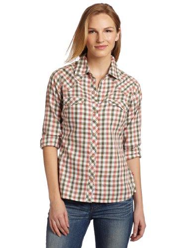 Dickies - Camicia da donna a spina di pesce - verde - XS