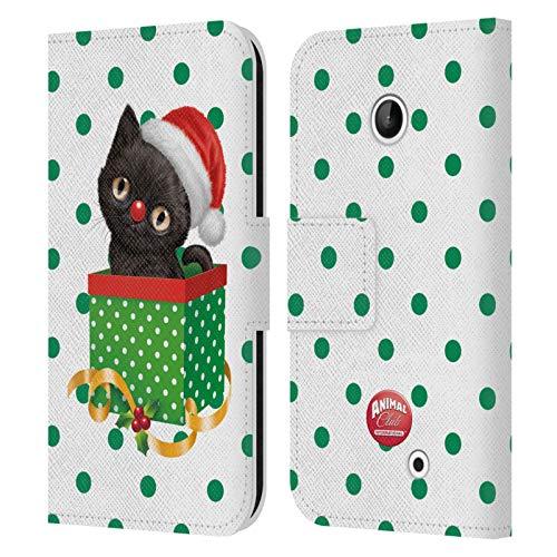 Head Case Designs Ufficiale Animal Club International Gatto 2 Box Natalizi Cover in Pelle a Portafoglio Compatibile con Nokia Lumia 630