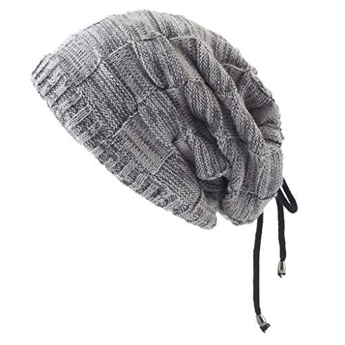 Uomo Slouchy Beanie Knit Zucchetto Lungo Gonfio Foderato Inverno Estate Cappelli cappello senza visiera cappello neve uomo cappello uomo elegante cappello bombetta uomo cappello vintage