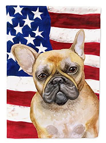 Caroline's Treasures BB9688GF French Bulldog Patriotic Flag Garden Size, Small, Multicolor