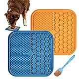 2 pcs Alfombrillas para Lamer Perro Cozywind Comedero Lento para Lamer con Ventosa Fuerte para Perros Ideal para Lavar Perros o Bañera Ayuda para el Aseo de Perros Raspador Incluido