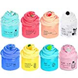 ✓ Good quality soft cloud slime with Blue stitch,Oreo,Candy cake,Latte Coffe Cup ,Pinapple,Mint Leaf,Peach and Water-melon 8 different charms. ✓ Supper & Stress Relief.Perfect party favor DIY slime toys for Girl and Boy, hours of fun for Kids. ✓ Non ...