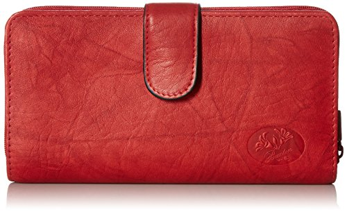 Buxton Women's Heiress Ensemble Clutch, Red, One Size