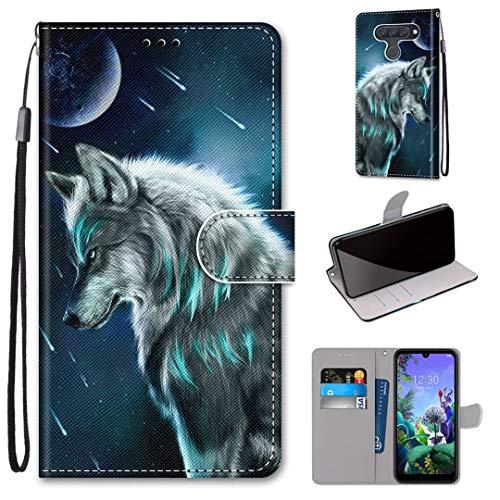 LG Q60 / K50 Hülle, SATURCASE Schön PU Lederhülle Magnetverschluss Brieftasche Kartenfächer Standfunktion Handschlaufe Handy Tasche Schutzhülle Handyhülle Hülle für LG Q60 / K50 (DK-28)