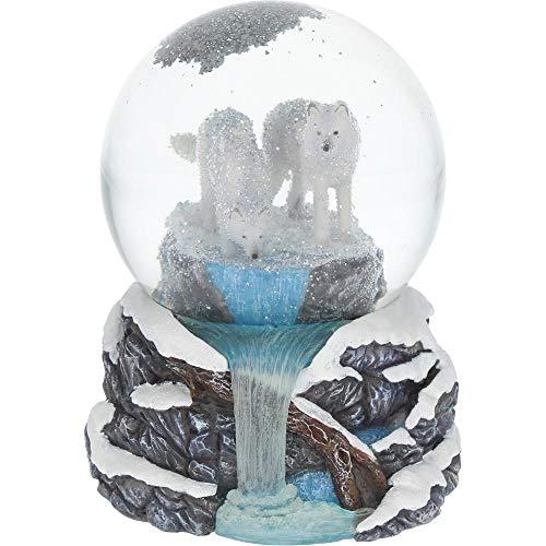 Nemesis Now Snowglobe 14.5cm White Warriors of Winter Lisa Parker Schneekugel 14,5 cm, Weiß, Harz und Glas, Einheitsgröße