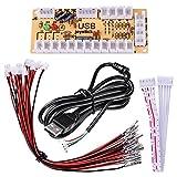 Quimat ゼロ遅延アーケード ゲーム コントローラ USBエンコーダー ジョイスティック PCパソコン DIY