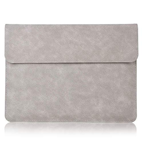 xisiciao, Briefcase Tailor Made for Microsoft Surface Pro 7/Pro 6/Pro 2017/Pro 4/Pro X, 12.3 Inch Laptop Anti-Collision Sleeve Cover Waterproof Polyester Ultrathin Carrying Bag (Light Gray)