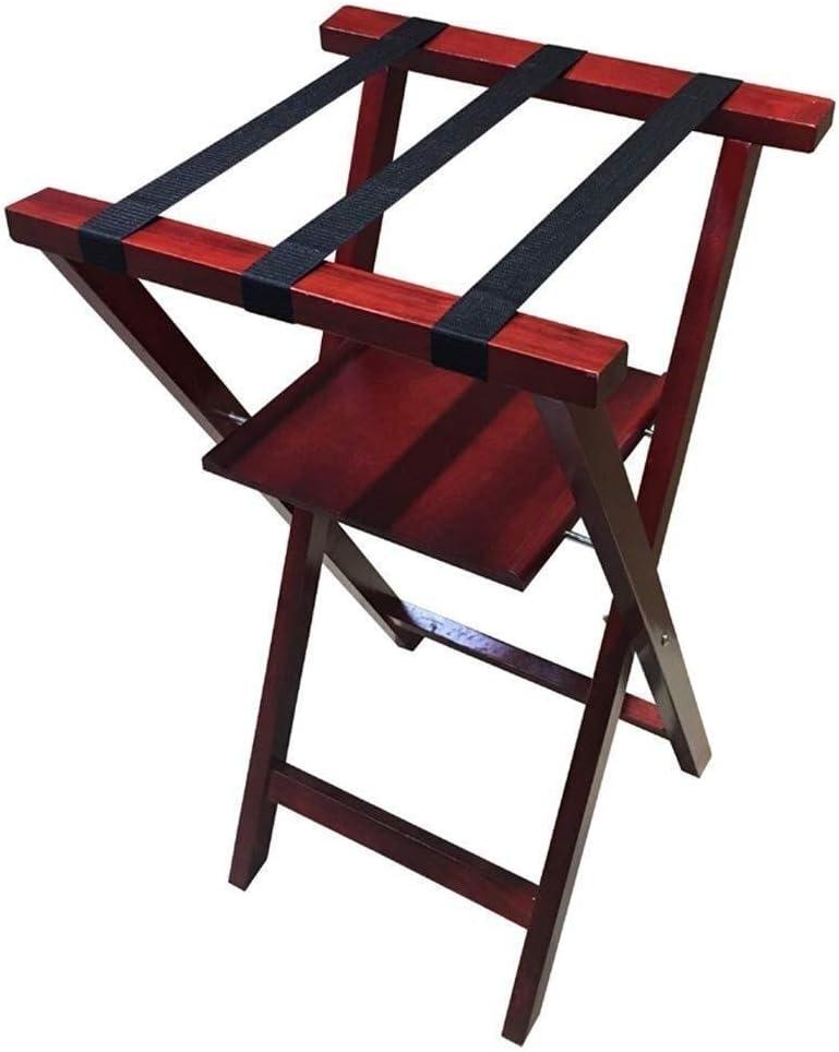 NEW before selling ☆ Yadianna Max 71% OFF Luggage Rack Wooden Folding 2storey Luggag