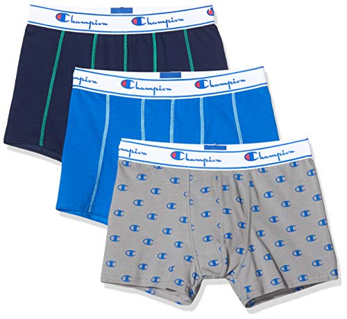 Champion Herren Boxershorts Boxer Coton Mix X3 (3er Pack), Mehrfarbig (District 9Fw)., Small