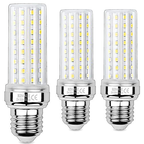 HZSANUE LED Ampoule à Maïs 20W, 150W Équivalent Ampoules à Incandescence, E27 Edison Vis Ampoules, 3000K Blanc Chaud, 2000LM, Pack of 3