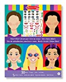 Melissa&Doug Stickerbrett zur Gestaltung eines Gesichts | Aktivitätsbrett | Stickerbrett | 3+ | Geschenk für Jungen oder Mädchen