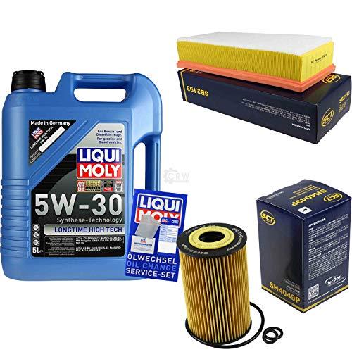 Preisvergleich Produktbild Filter Set Inspektionspaket 5 Liter Liqui Moly Motoröl Longtime High Tech 5W-30 SCT Germany Luftfilter Ölfilter