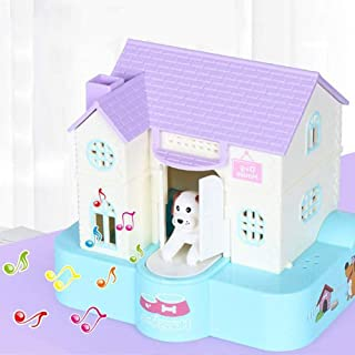 TEMZUKI Choken Bako Dog House Piggy Bank Money Saving Box Moneybox with Music Playing (Purple Roof)