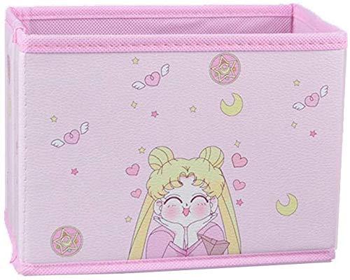 Cartoon Storage Box, Cute Japan Anime Sailor Moon Tsukino Usagi Model Figure Desktop Storage Box Case Makeup Holder Organizer for Kids Girls Gift (Smile)